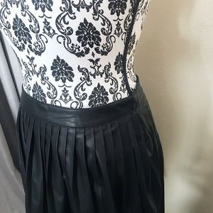 Forever 21 Skirts - Pleated Faux Leather Skirt